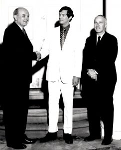 Dean Rusk (left), Henry Poole '71 (center), and J. Dickson Phillips, Jr. (right)